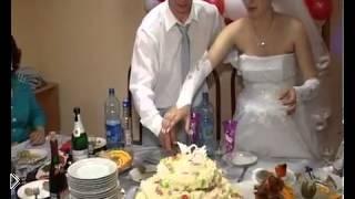 Смотреть онлайн Жених уронил торт, чем взбесил молодую жену