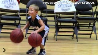 Смотреть онлайн Пятилетний мальчик баскетболист