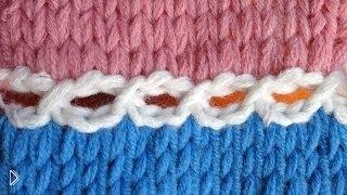 Вязание спицами: декоративное закрытие петель - Видео онлайн