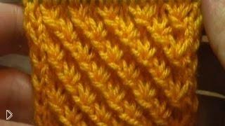 Смотреть онлайн Вязание спицами для начинающих. Узор «Звездочки»