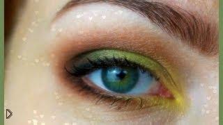 Смотреть онлайн Макияж в желто-зеленых тонах