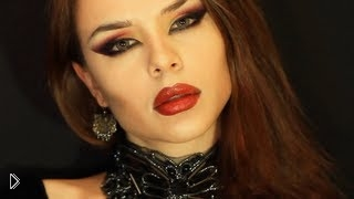 Смотреть онлайн Мейк ап настоящей вампирши