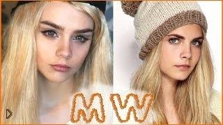 Смотреть онлайн Превращение: макияж Cara Delevingne