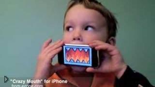 Смотреть онлайн Приложение Crazy Mouth для IPhone