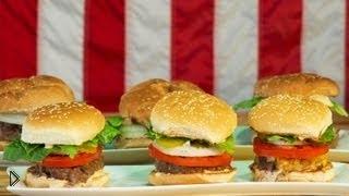 Смотреть онлайн Как сделать домашний гамбургер: рецепт