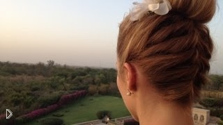 Оригинальный и красивый пучок с бубликом - Видео онлайн