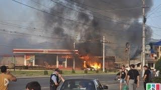 Смотреть онлайн Взрыв заправки: Махачкала, 08.08.2014