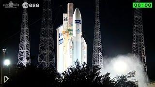 Смотреть онлайн Ночной запуск космической ракеты
