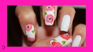 Смотреть онлайн Как научиться рисовать цветы на ногтях