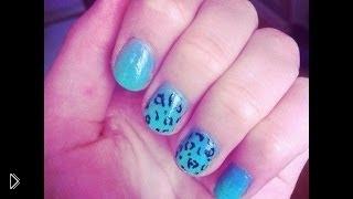 Смотреть онлайн Красивые леопардовые ногти урок