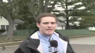 Смотреть онлайн Журналист стукнулся головой и упал во время эфира