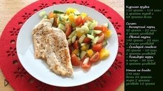 Смотреть онлайн Куриные грудки на гриле для тех, кто на диете