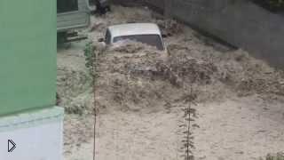 Смотреть онлайн Наводнения в Туапсе 8 июля 2014