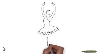 Смотреть онлайн Как поэтапно легко нарисовать красивую балерину