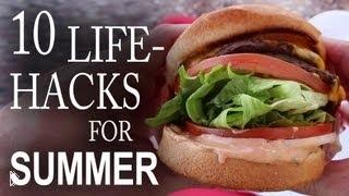 Смотреть онлайн Большая подборка летних лайфхаков