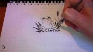 Смотреть онлайн Как поэтапно рисовать лягушку