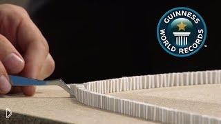 Смотреть онлайн Рекорд Гиннеса: конструкция из 275 тысяч штук домино