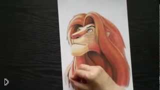 Смотреть онлайн Как нарисовать Короля Льва из мультика карандашом