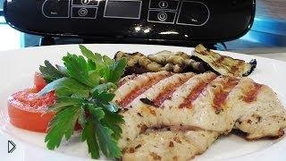 Смотреть онлайн Блюдо-гриль: филе индейки с овощами