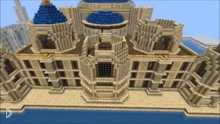 Смотреть онлайн Стройка фантастического дома в Майнкрафт