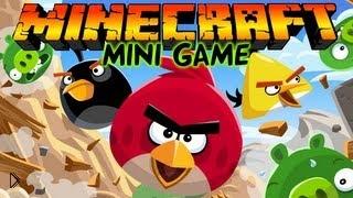 Смотреть онлайн Мини игра Angry Birds для Майнкрафта