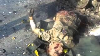 Смотреть онлайн Разбитая колона украинских десантников 18+