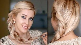 Домашняя прическа на длинные волосы - Видео онлайн