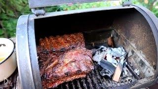 Смотреть онлайн Рецепт свиных ребер барбекю