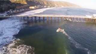 Смотреть онлайн Серфинг с высоты птичьего полета: Малибу