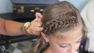 Плетение оригинальных узелков из челки для девочки - Видео онлайн