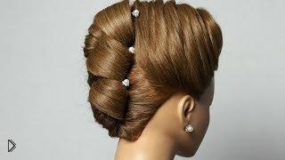 Смотреть онлайн Свадебная прическа на средние волосы
