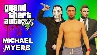 Смотреть онлайн Мини игры с друзьями в GTA 5 – побег от маньяка