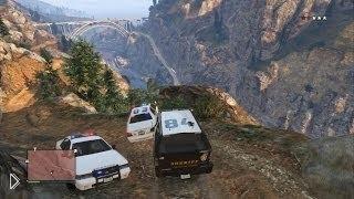Смотреть онлайн Приколы в GTA 5 – поездка в горы