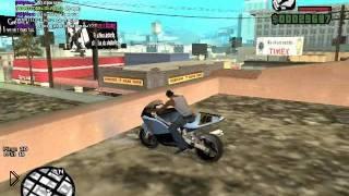 Смотреть онлайн Трюки на мотоцикле в GTA SA