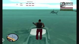Смотреть онлайн Мод для GTA SA – атака акул