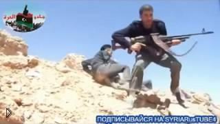 Смотреть онлайн Выстрел в голову убивает сирийского террориста