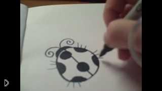 Смотреть онлайн Как нарисовать божью коровку поэтапно