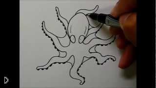 Смотреть онлайн Как нарисовать поэтапно карандашом осьминога детям