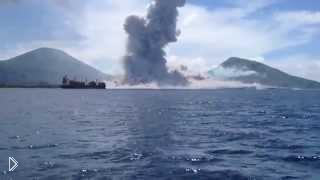 Смотреть онлайн Извержение вулкана: Папуа - Новая Гвинея, 29.08.2014