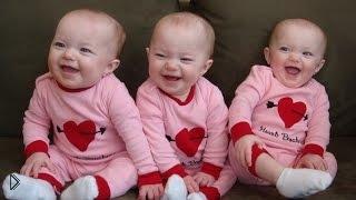 Самая няшная подборка детского смеха тройняшек - Видео онлайн
