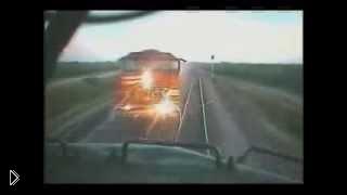 Смотреть онлайн Лобовое столкновение двух поездов