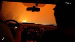 Смотреть онлайн Люди в лесном пожаре. Нижегородская область, 2010 год