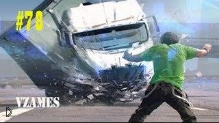 Смотреть онлайн Свежая подборка ДТП с грузовиками, сентябрь 2014