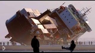Зрелищная подборка: спуск больших кораблей на воду - Видео онлайн