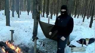 Смотреть онлайн Выживание и укрытие зимой в лесу
