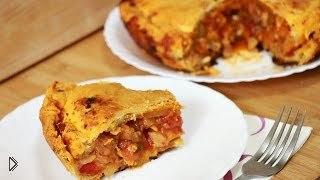 Смотреть онлайн Вкусный рецепт пирога с курицей