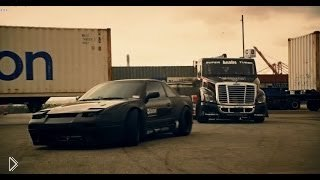 Смотреть онлайн Дрифт на машинах: Ниссан против грузовика