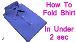 Смотреть онлайн Инструкция: как сложить рубашку за 2 секунды