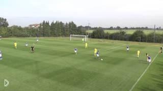 Смотреть онлайн Блестящая командная игра: красивый гол
