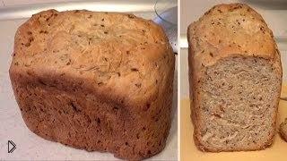 Смотреть онлайн Полезный фитнес хлеб, рецепт для хлебопечки